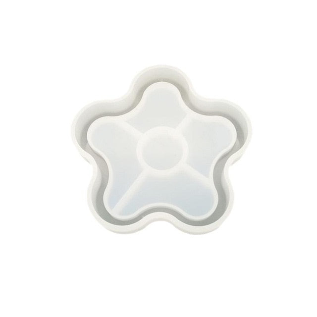 daisy flower silicone resin art coaster mold