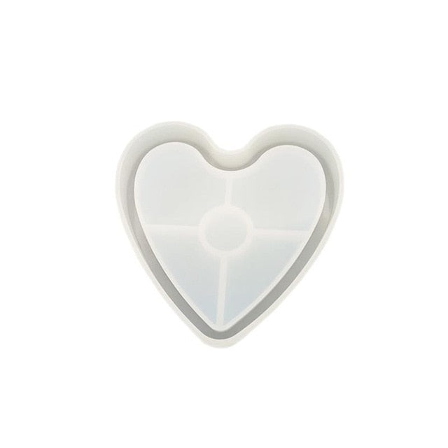 heart silicone resin coaster mold