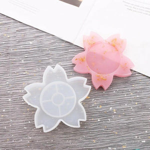 flower resin coaster silicone mold for resin craft and coasters