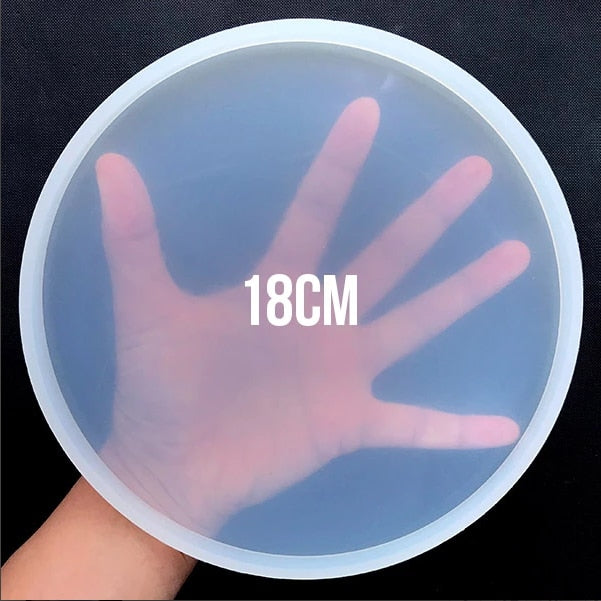 Petri dish round silicone big coaster mold for resin