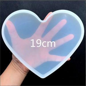large heart shape resin epoxy silicone mold valentines day