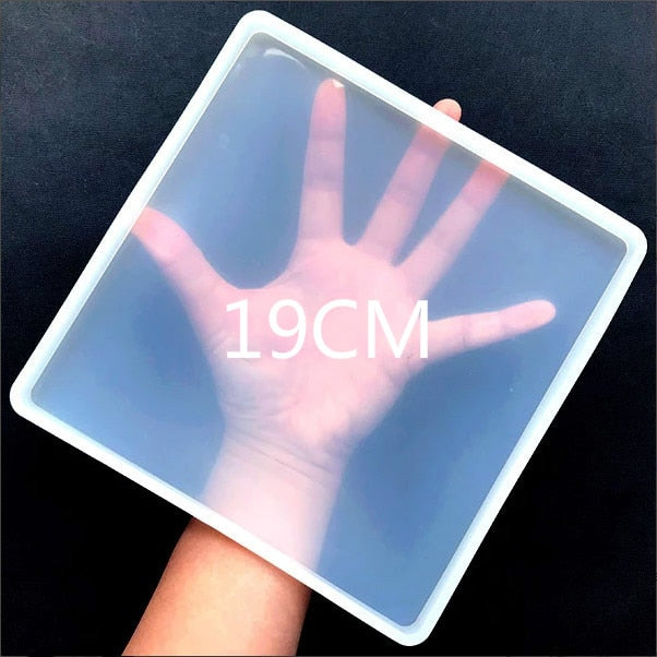 Big Square Coaster Silicone Mold Large Fluid Artst Mold Resin Coaster Making Epoxy Resin Crafts