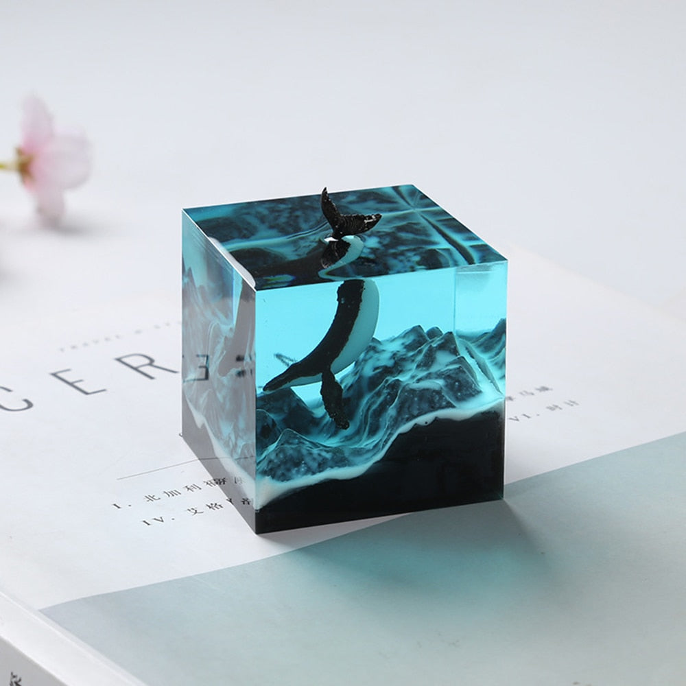 resin cube square silicone mold for dried flowers