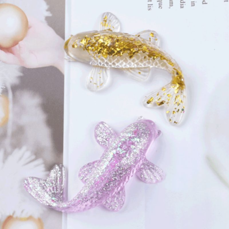 Transparent Silicone Mold Decorative Resin Mould Koi Lucky Fish Shaped DIY Crafts Pendant Making Tools