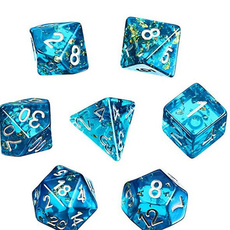 7 Shapes Dice Square Triangle Dice Mold Epoxy Resin Mold Kit Dice Games Unique Mold