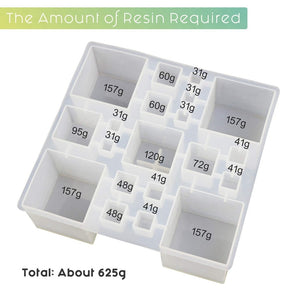 Square Resin Silicone Mold Resin Cube Molds, Paperweight, jewelry