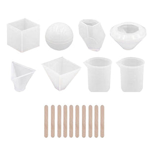 18pcs Resin Mold Tool Kit Silicone Paper Weight NEW KIT