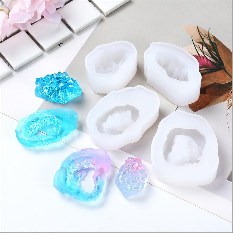 jewelry pendant druzy crystal geode mold for resin