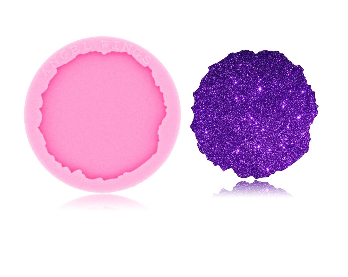 phone socket geode resin mold silicone badge