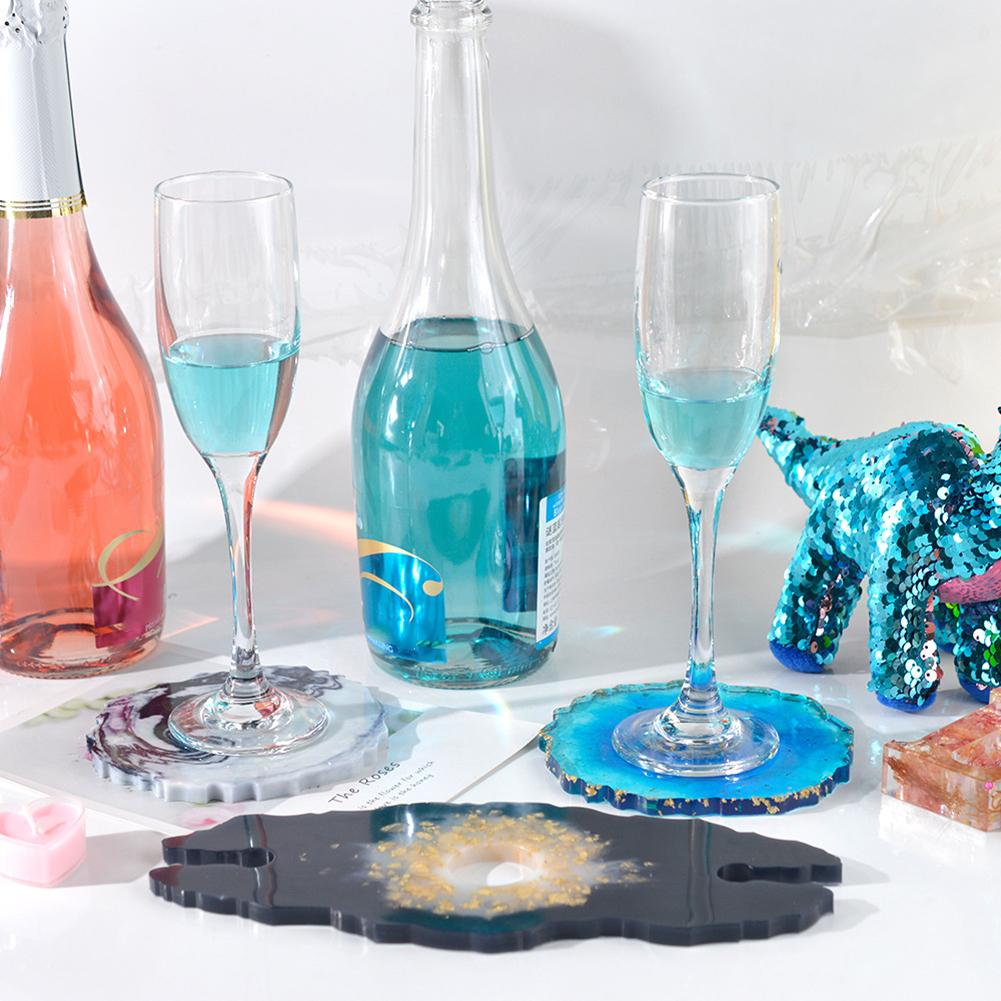 wine butler glass holder geode silicone resin mold mould