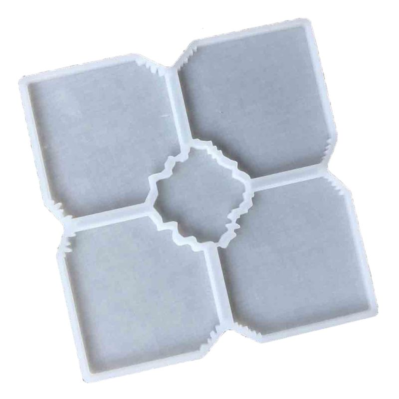 5 piece resin geode square coaster mold