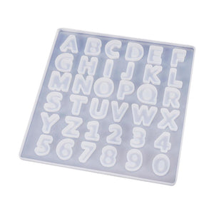 alphabet number and letter resin silicone mold