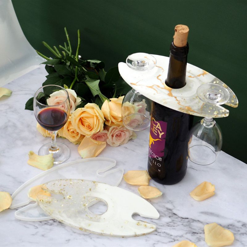 resin wine glass bottle holder silicone mold