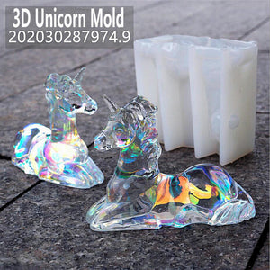 3D Unicorn Silicone Resin Mold Unique Mold