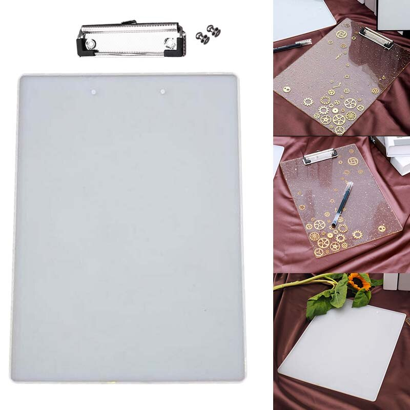 clipboard clip board resin mold silicone mould back to school