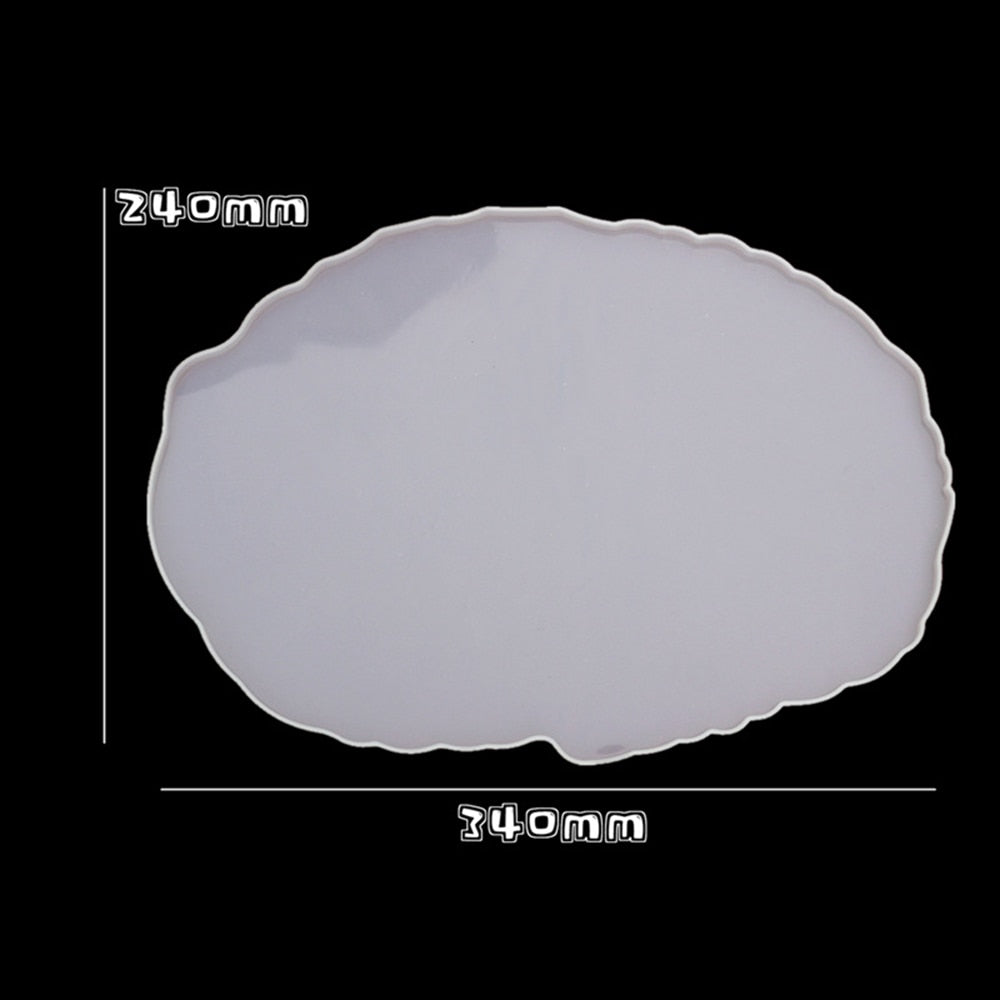 oval resin tray mould silicone mold craft mold