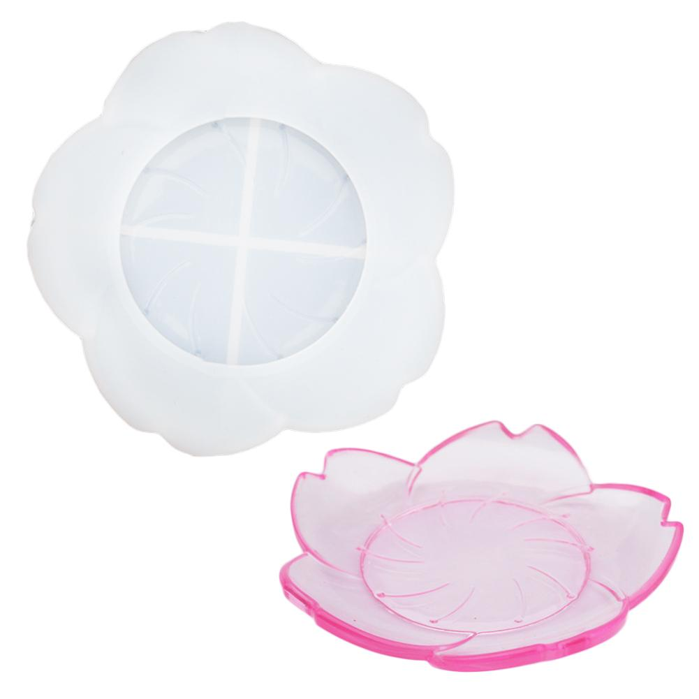 flower resin jewelry dish trinket silicone mold