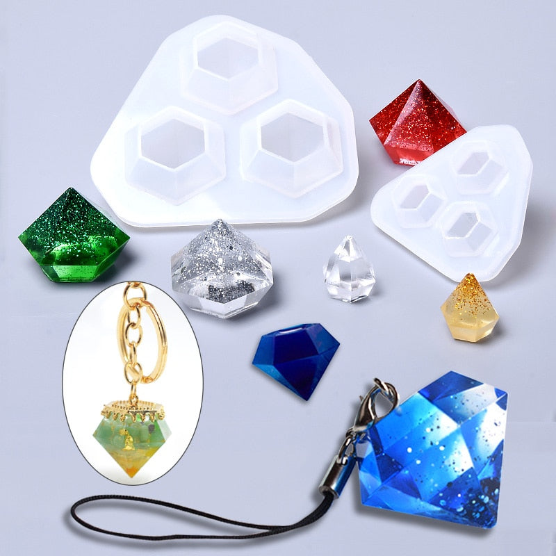 resin jewelry diamond mold craft silicone