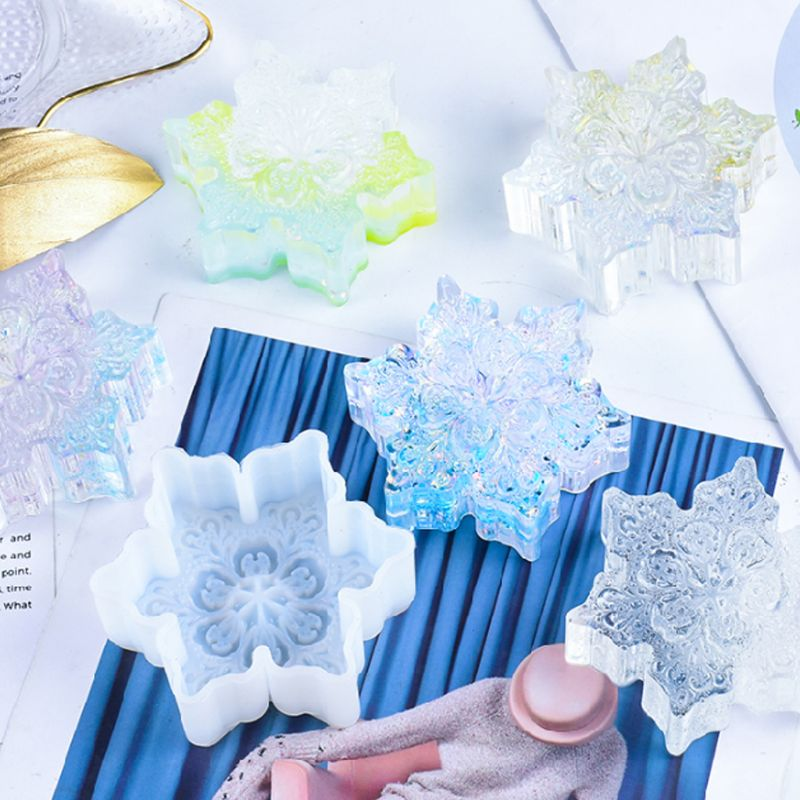 snowflake resin craft silicone mold ornament