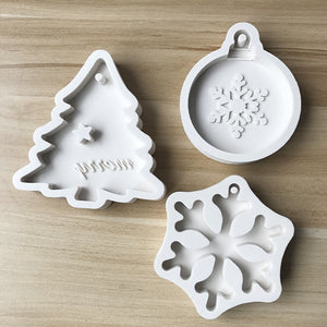Christmas resin silicone ornament craft mold
