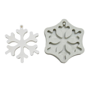Christmas resin silicone ornament craft mold snowflake