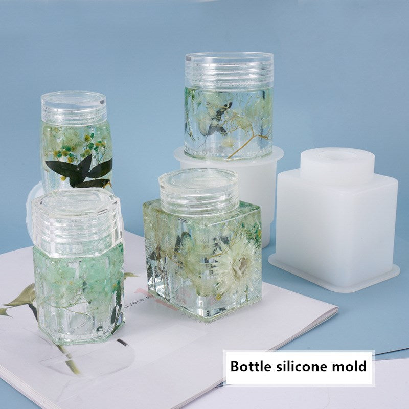 storage bottle resin mold silicone craft