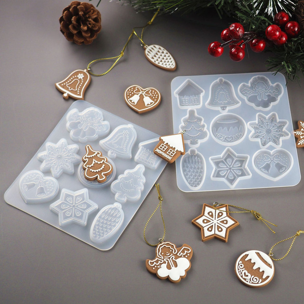 resin silicone Christmas keychain ornament mold