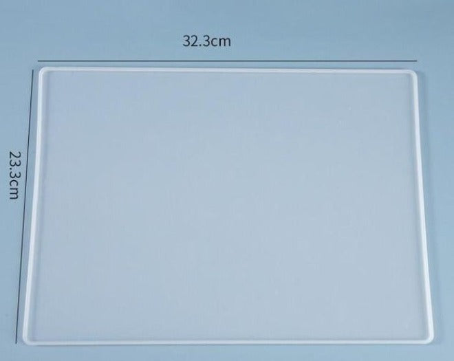 rectangle writing board placemant resin silicone mold
