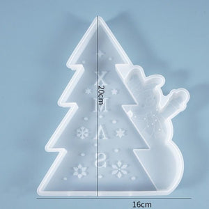 christmas snowman christmas tree resin mold silicone
