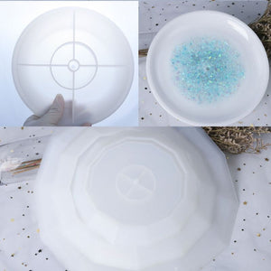 3 Pcs Three Tier Tray Round 3D Resin Mold