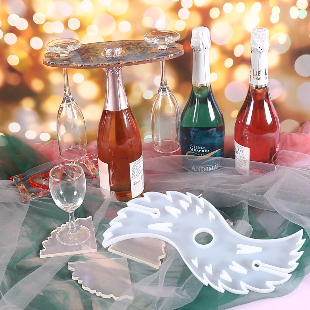 angle wing resin wine caddy mold