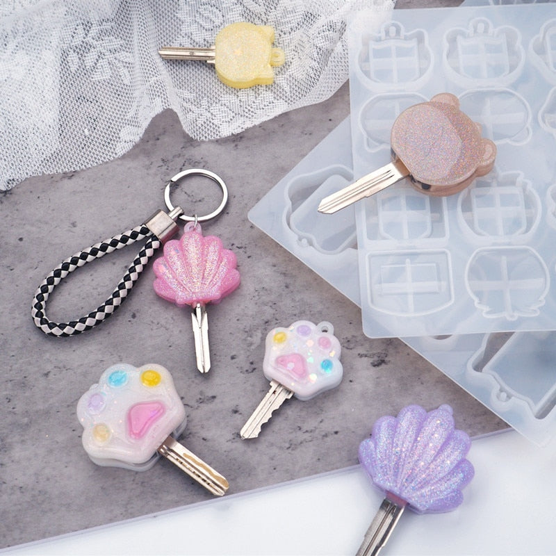 key cap resin silicone mold keychain