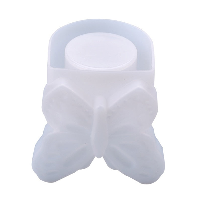 butterfly resin mold silicone candle holder