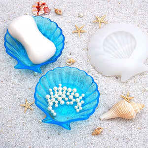 shell resin mold seashell silicone trinket dish