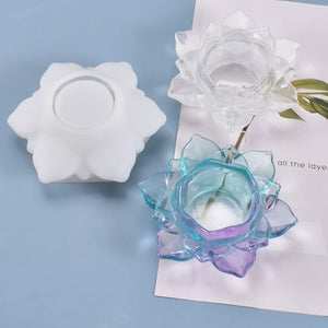 Lotus Flower Candle Holder Resin Mold, Unique Mold