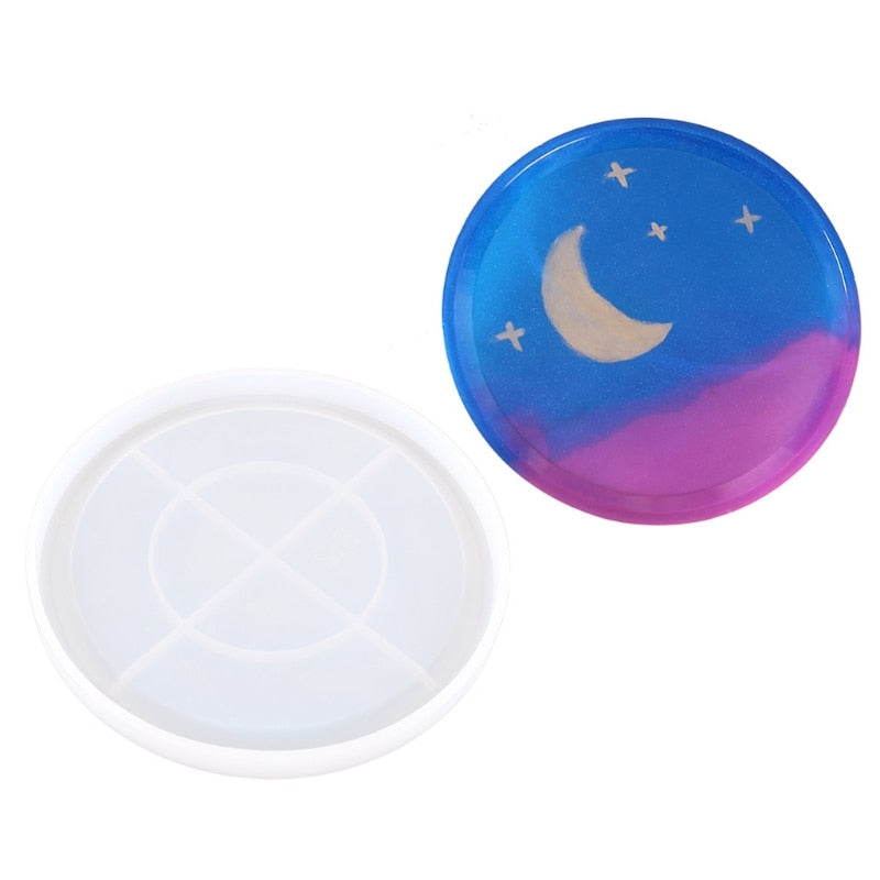 round dish platter resin silicone mold