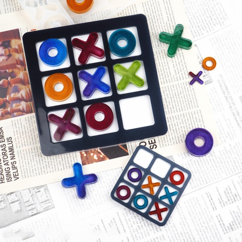 tic tac toe resin silicone mold diy craft