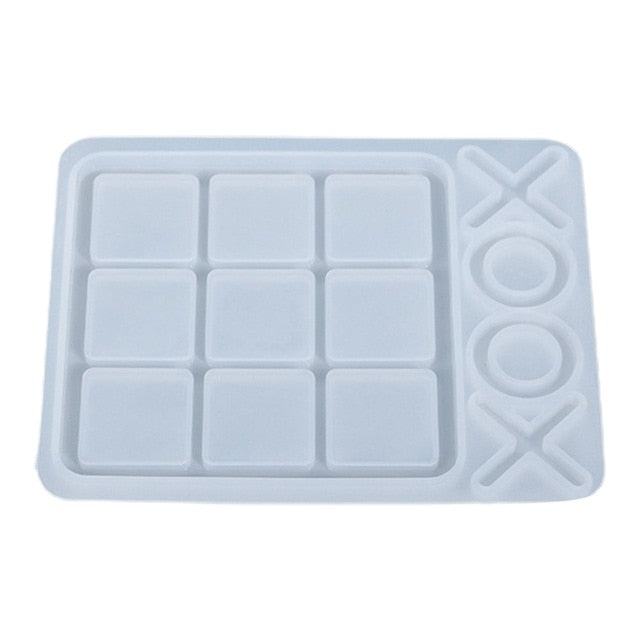 Tic Tac Toe Resin Game Board Mold, Unique Mold