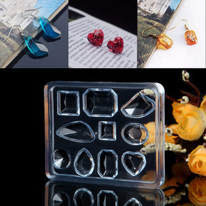 silicone resin jewelry necklace pendant mold shapes