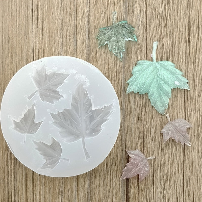 Maple Leaf DIY Silicone Mold for Resin Crafts Necklace Jewelry Pendant Making