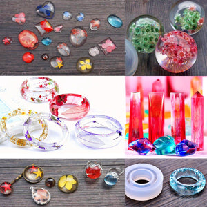 resin jewelry mold silicone kit for beginners