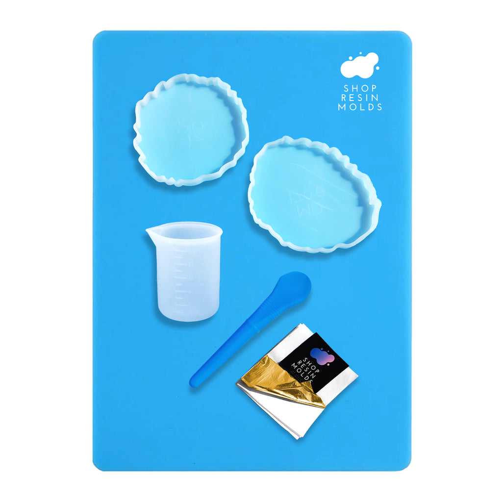 Resin Mold Beginner Geode Coaster Kit