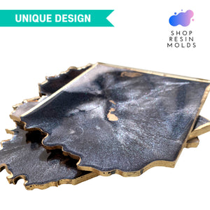 resin geode coaster agate silicone mold for resin coasters