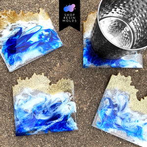 square resin agate epoxy silicone mold mould
