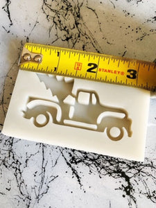 Christmas tree truck silicone resin craft keychain mold ornament mould