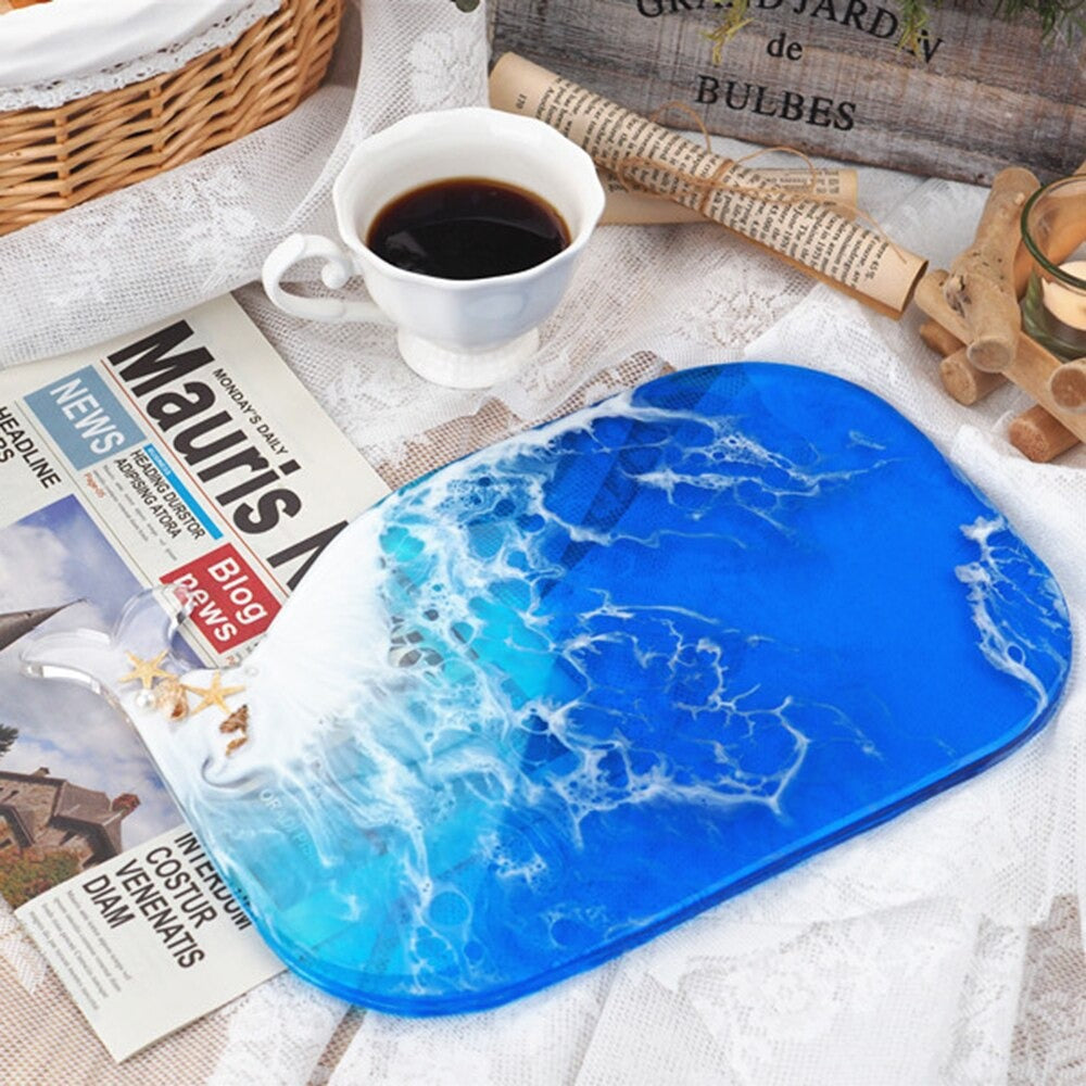whale resin tray cutting board mold silicone