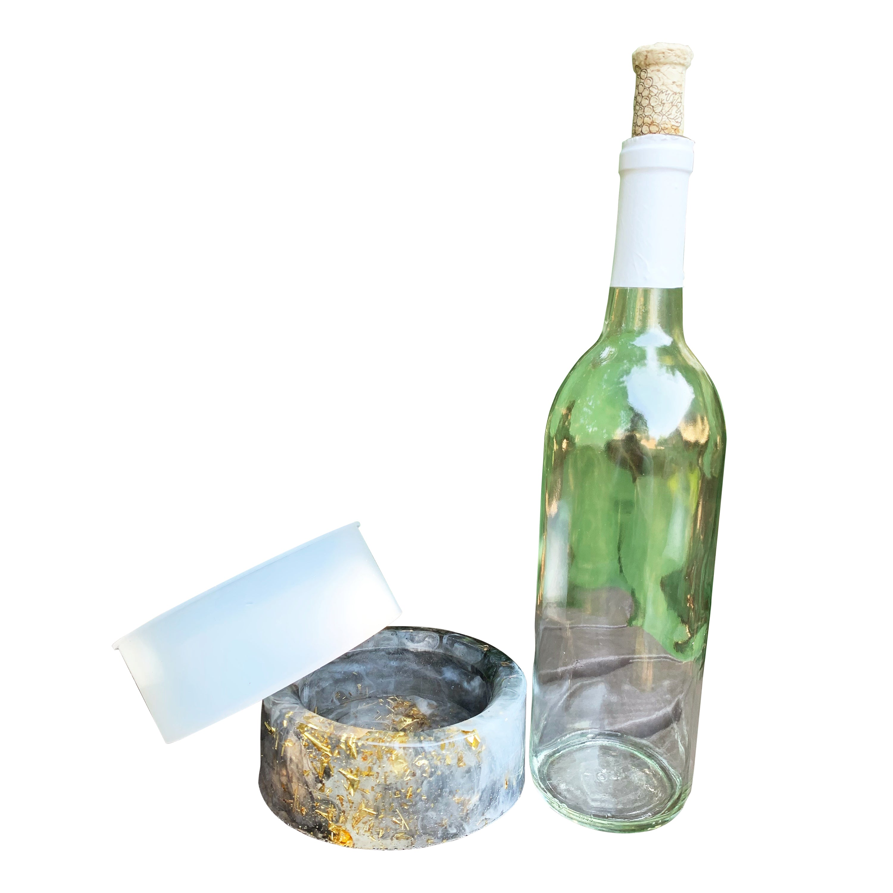 wine bottle coaster resin mold butler caddy silicone