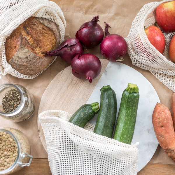 Reusable Cotton Fruit & Vegetable Mesh Bags
