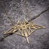 Geometric Manta Ray Necklace  - [variant_title] - Project Love Back