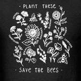 """Plant These - Save The Bees"" Unisex Tee  - Black / L - Project Love Back"
